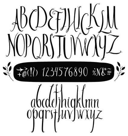 Alphabet hand drawn in vector Handwritten alphabet