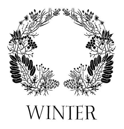 Diseño De Tarjeta De Verano Con Flores Y Hojas De Color Blanco Y ...