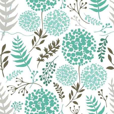 Abstract floral background Blue Green Color set Ilustração