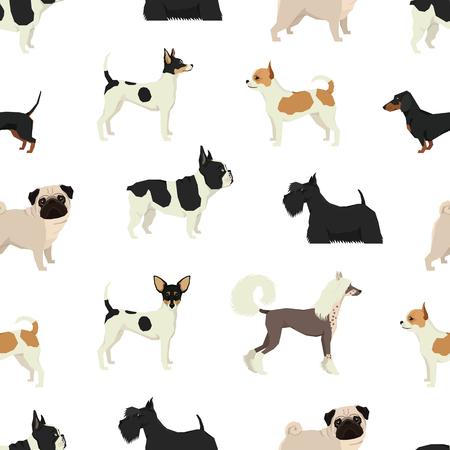 Dog collection Seamless pattern set Фото со стока - 75658236