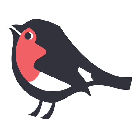 Secret garden Robin bird icon Vector illustration set