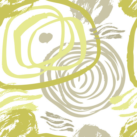 Abstract background Gray and olive colors Sketch style set