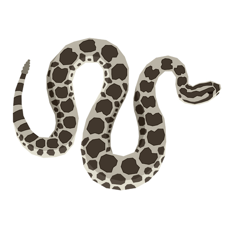 Wild animals collection Massasauga Rattlesnake Geometric style Isolated object set