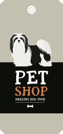 Vector illustration Dog collection Havanese Dog Poster Pet Shop Design label set