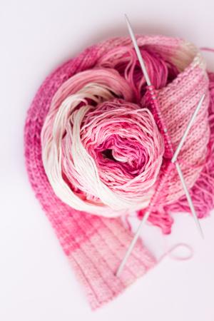 fibber: Knitting  Bamboo yarn Stock Photo