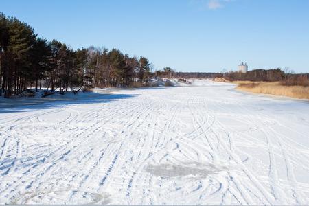 ski run: Winter landscape  Ski run