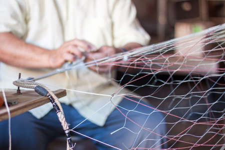 Weaving fishing net photo