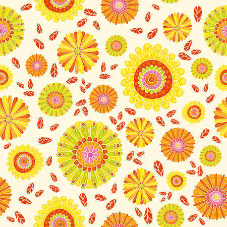 The pattern for summer floral background. Vector