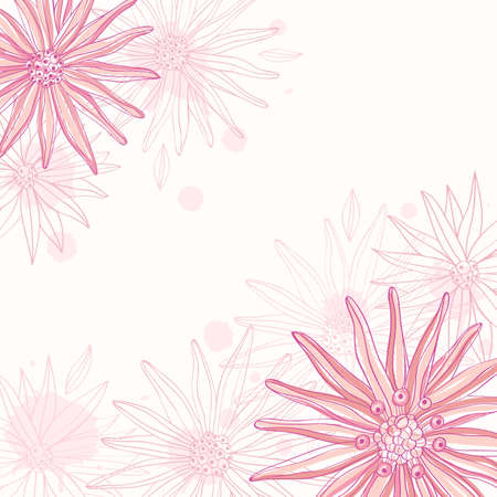 Abstract floral background. Hand drawn style, Illustration