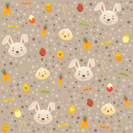 Pattern for Easter with Bunny and Chicks