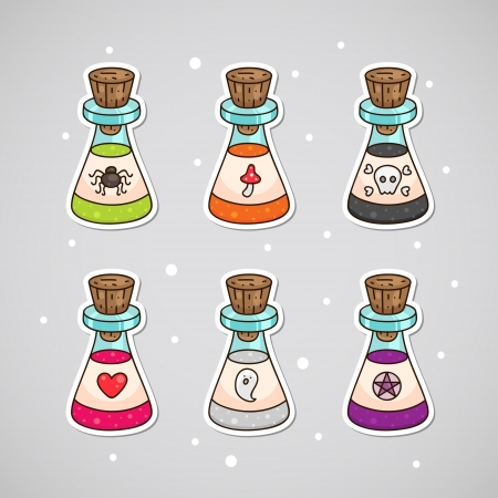 Halloween potions Vector