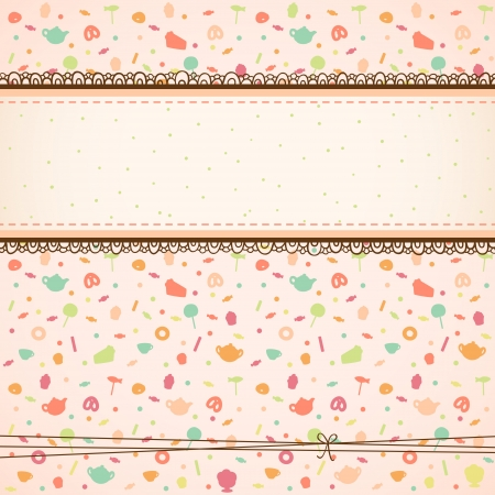 Tea party background Vector