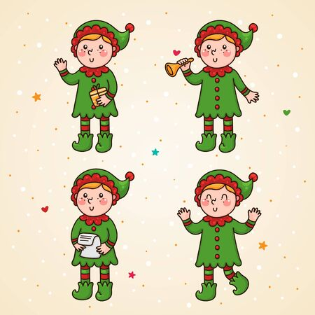 Elf set Vector