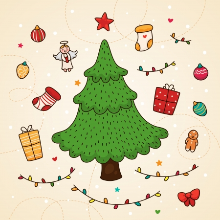 Christmas tree and other Christmas decorations