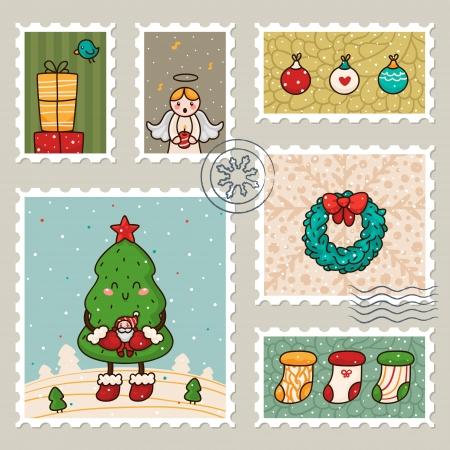 wreathe: Christmas stamp  Collection