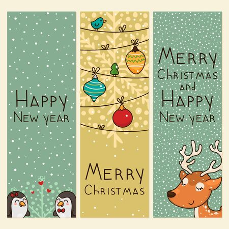 Christmas and new years vertical banners Stock Vector - 16892678