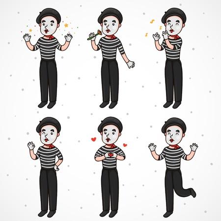 optimist: Mime (set): wizard, romantic, musician, optimist, lover, happy