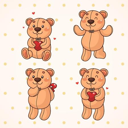 Cute teddy bear  Set