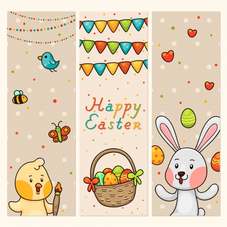 Easter vertical banners Stock Vector - 18545892