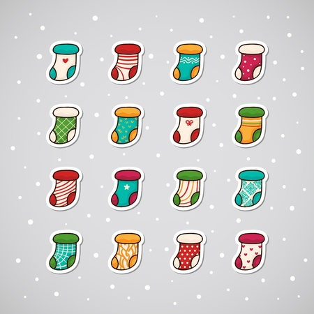 Sticker with Christmas socks