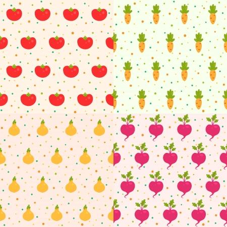 Set vegetable patterns