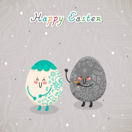 Tatoo Easter. Greeting card