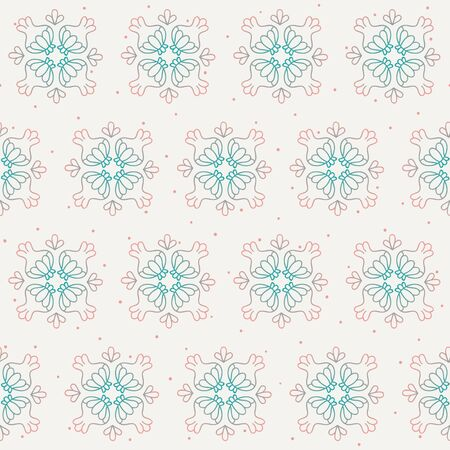 Abstract ornate pattern blue and pink