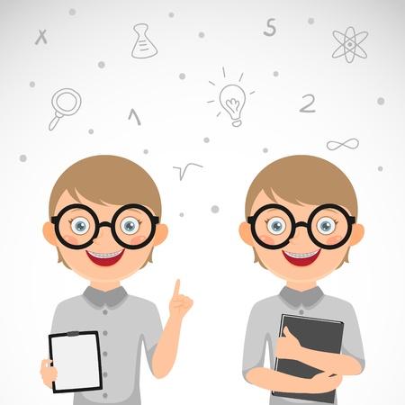 nerdy: Cute nerdy boy  Schoolboy