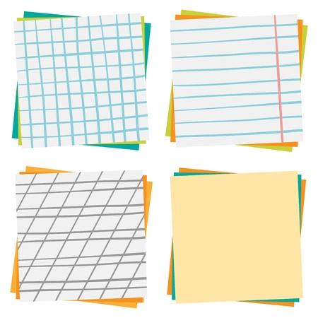 Paper background, set  Back to school Illustration