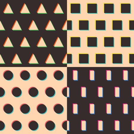 Set of geometric patterns  triangle, rectangle, circle, square