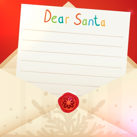 dear: Christmas letter to Santa Claus Illustration