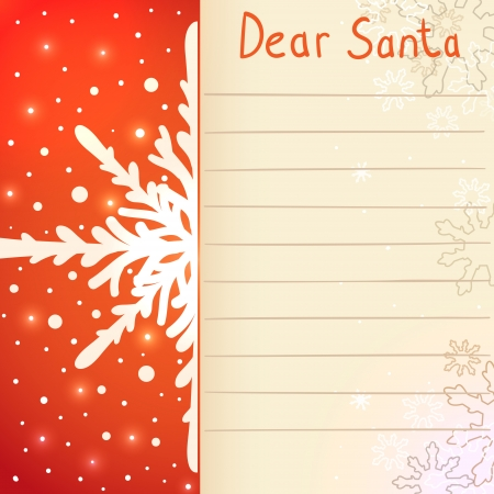 Christmas letter to Santa Claus Illustration