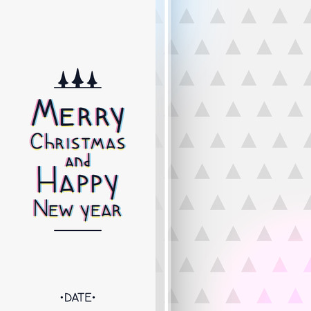 Christmas and New year geometric greeting card, triangular pattern Illustration