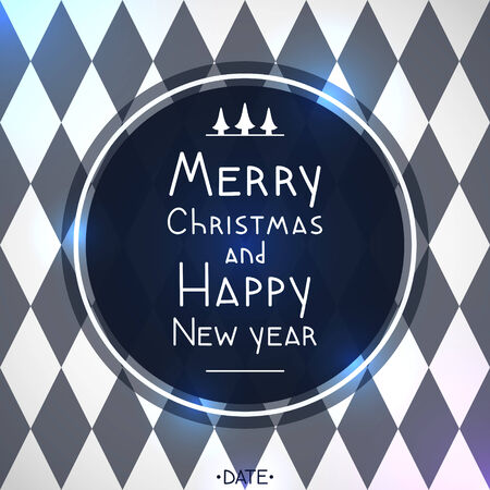contrasting: Christmas and New year geometric card contrasting colors, diamond pattern
