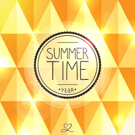 Bright summer card with ice cream Illustration