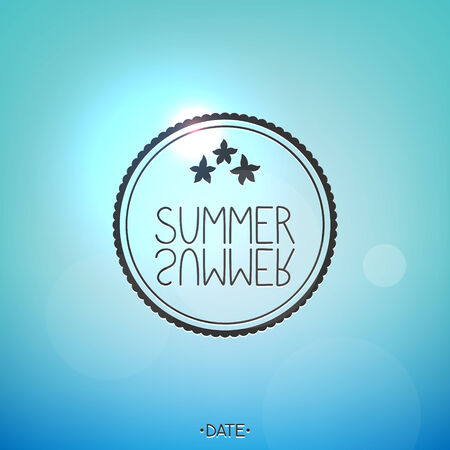 Bright summer card, underwater