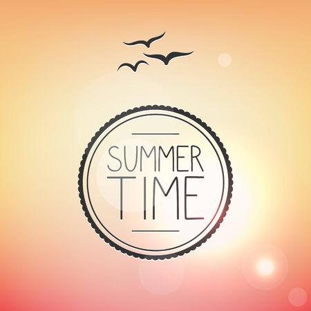 Bright summer card, tropical