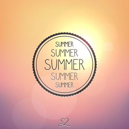 Bright summer card, sunset