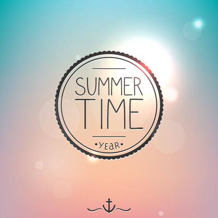 Bright summer card