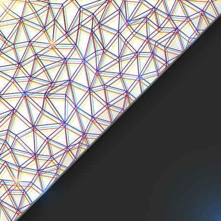Abstract geometric card Illustration