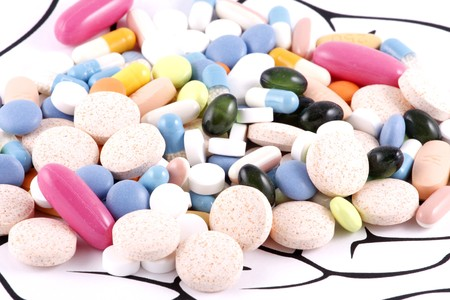 Healthy Brain Pills on white background Stock Photo - 7845189
