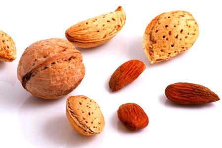 Walnuts and Almonds. Close-up. Stock Photo - 7934339