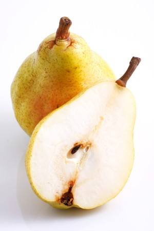 Two pears over white background Stock Photo - 7934374