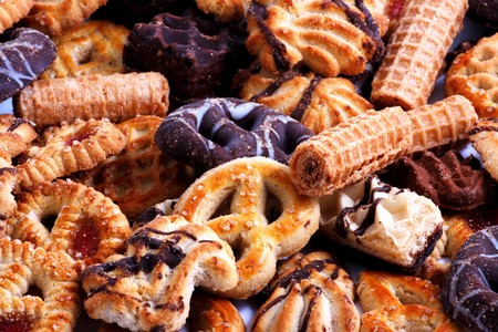Group of bisquit cakes macro close up Stock Photo - 7997219