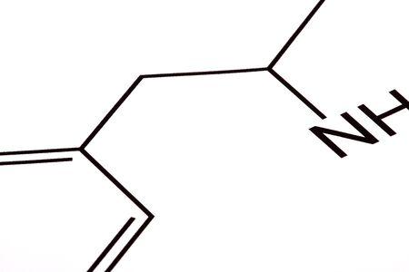 Chemical formula on white background photo