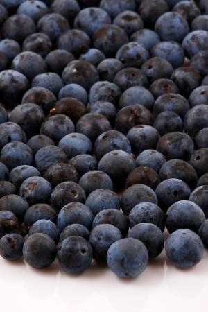 Macro shot of fresh blueberries Stock Photo