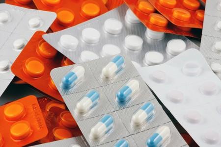 antiviral: Blister Packs Of Pills Stock Photo