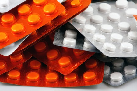 h1n1 vaccinations: Blister Packs Of Pills Stock Photo