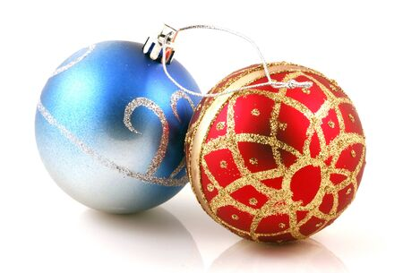 Christmas decoration on white background photo