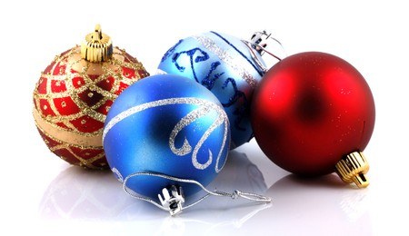 Christmas decoration on white background Stock Photo - 8168395